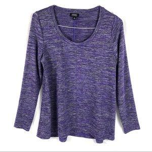 Jones New York Purple Long Sleeve Shirt